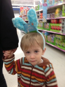 The saddest easter bunny ever. Should have known at this point he was getting sick.