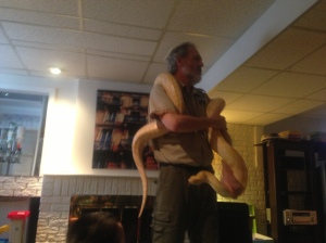"""The """"piece de resistance"""" this python was massive!"""