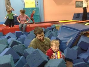 Fun in the foam pit.