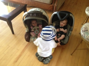 Henry was giving a free ride to his brother and cousin at the end of the day.