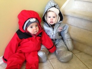 Freddy and Juan all bundled up