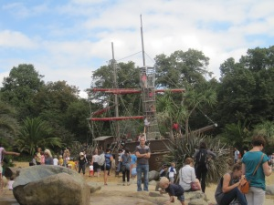 Life size pirate ship in the Princess Di Memorial Park. Such an awesome playground.