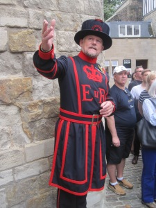 Steve, our hilarious Beefeater tour guide.
