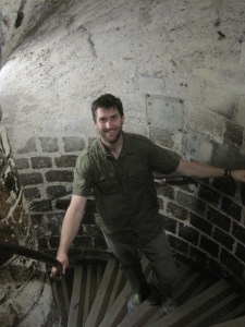 Chris enjoyed the bajillion spirally stairs in the tower